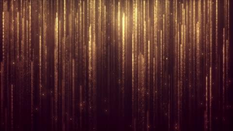 vídeos y material grabado en eventos de stock de lluvia dorada del brillo - diseño temas