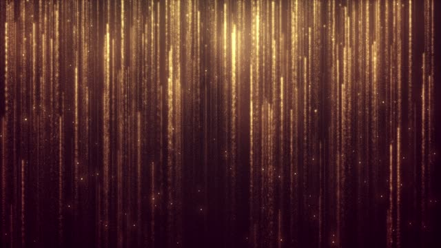 glitter golden rain - gold colored stock videos & royalty-free footage
