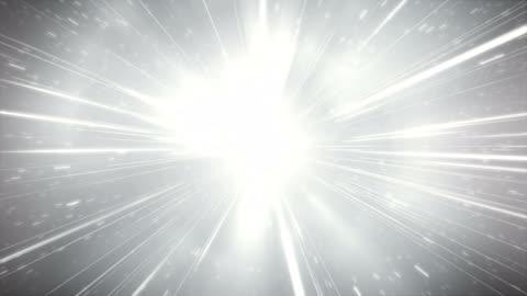 glitzer / high speed / light speed animation (silber) - loop - überbelichtet stock-videos und b-roll-filmmaterial
