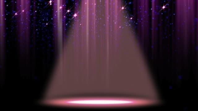 glitter spotlight background loop - stage light stock videos & royalty-free footage