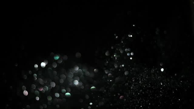 mit glitter - silberfarbig stock-videos und b-roll-filmmaterial