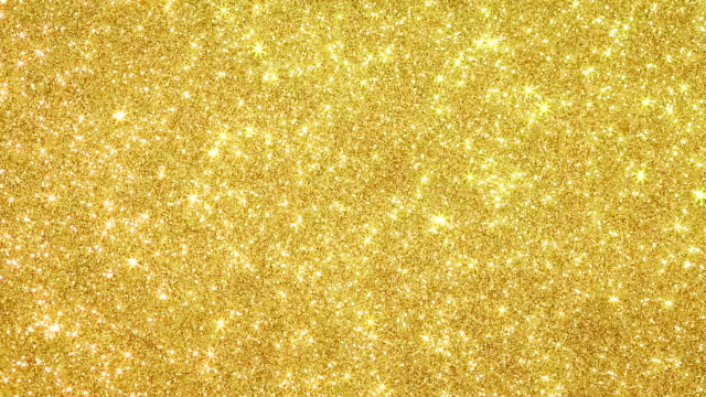 glittering background with moving small stars - gold coloured stock videos & royalty-free footage