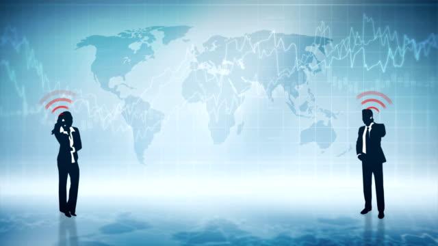 global business-endlos wiederholbar - liniendiagramm stock-videos und b-roll-filmmaterial