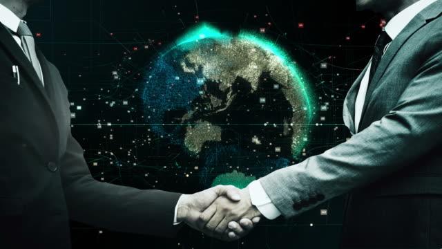 global business network concept - lavoro e impiego video stock e b–roll