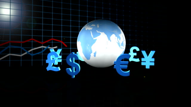 vídeos y material grabado en eventos de stock de negocio global - tipo de cambio