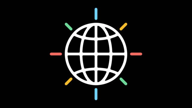 global charity line icon animation with alpha - variation icon stock videos & royalty-free footage