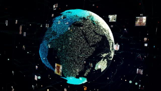 global communication metaphor - large group of people stock videos & royalty-free footage