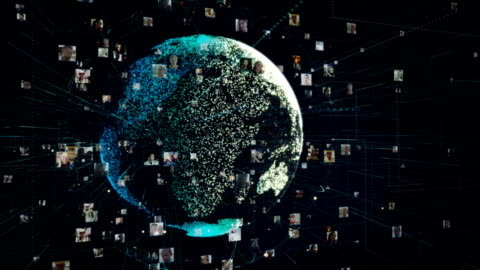 vídeos y material grabado en eventos de stock de metáfora de comunicación global - imagen generada digitalmente