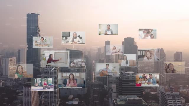 global kommunikationsteknologi, telekonferenser och telekommunikationskoncept - telefonkonferens bildbanksvideor och videomaterial från bakom kulisserna