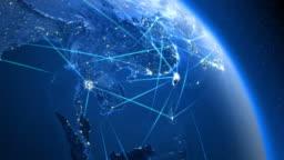 Global communications. Asia.