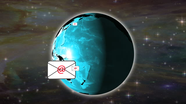 Global Communications Email Concept
