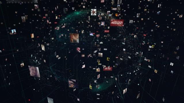 globale kommunikationsmetapher - völlig lichtdurchlässig stock-videos und b-roll-filmmaterial