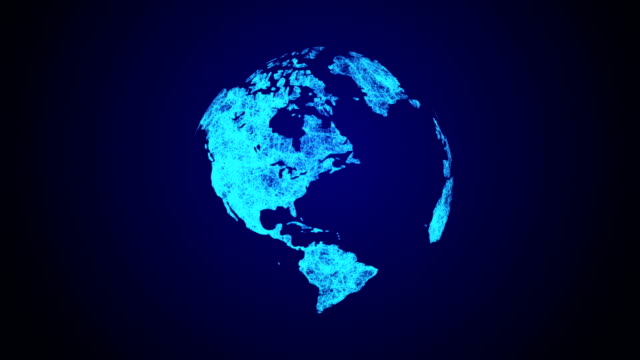 global communications network from space - photo manipulation stock videos and b-roll footage