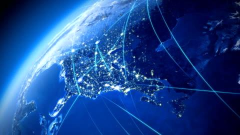 global communications. usa. - 方向 個影片檔及 b 捲影像