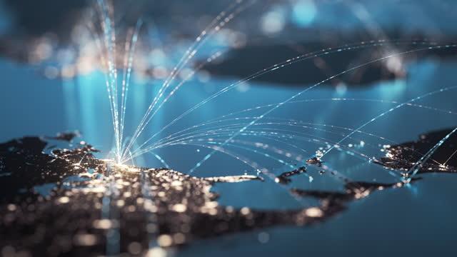 vidéos et rushes de global connection lines - global business, data exchange, travel routes - multicolore - mondial