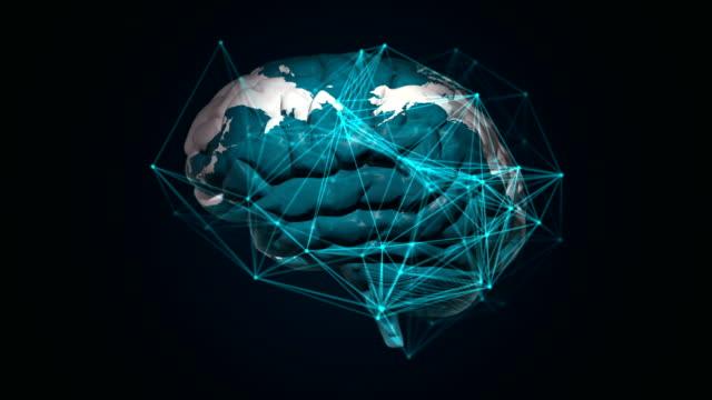 vídeos de stock e filmes b-roll de global connections, artificial intelligence and cloud computing - prontidão
