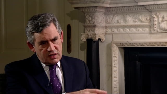 stocks rally as hopes continue for financial bailout interviews with gordon brown gordon brown mp interview sot we have not had negative growth / not... - 緊急援助点の映像素材/bロール