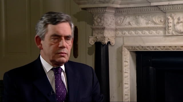 stocks rally as hopes continue for financial bailout interviews with gordon brown england london westminster int gordon brown mp interview sot matter... - 緊急援助点の映像素材/bロール