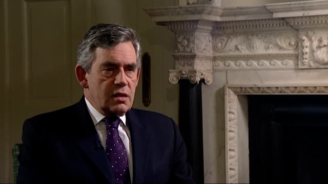 stocks rally as hopes continue for financial bail-out: interviews with gordon brown; gordon brown mp interview sot - we have already taken action for... - gordon brown stock-videos und b-roll-filmmaterial