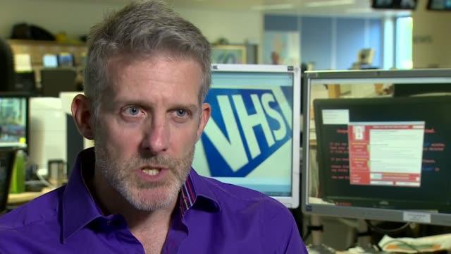 Global cyber attack cripples NHS computer systems INT Benn Rapp interview SOT