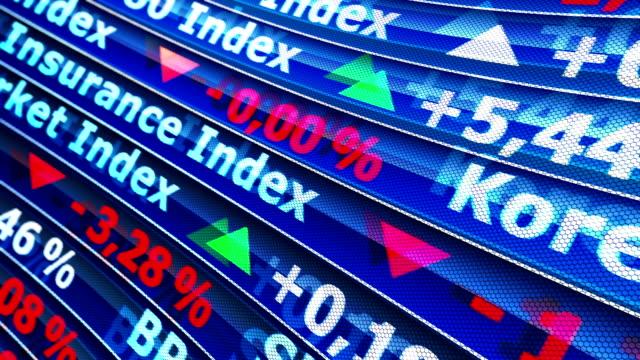 global exchange-world-indizes. - quartier de la bourse stock-videos und b-roll-filmmaterial