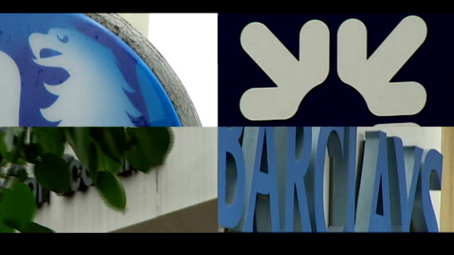 Bailout deal for British banks planned SPLIT SCREEN Bank signs for the Royal Bank of Scotland Barclays Lloyds TSB HSBC