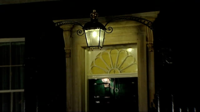 Bailout deal for British banks planned EXT General view door to Number 10 and First Lord of the Treasury sign on door