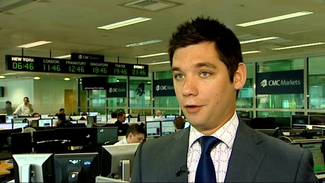 stock market crash england london traders at desks after london stock exchange opens james hughes interview sot - 2008 stock videos & royalty-free footage
