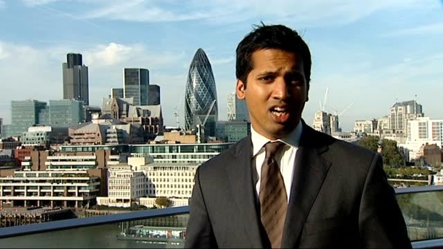 Stock market crash EXT Reporter to camera