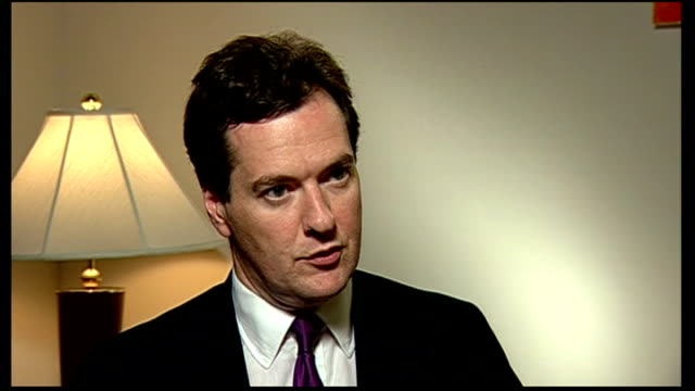 world finance ministers meet in washington usa washington dc george osborne mp interview sot i think it is weeks not months now for the eurozone... - financial accessory stock videos and b-roll footage