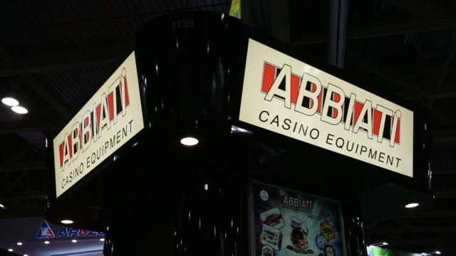 global gaming expo signage is displayed inside the venetian macao resort and casino operated by sands china ltd a unit of las vegas sands corp in... - cotai strip stock videos and b-roll footage