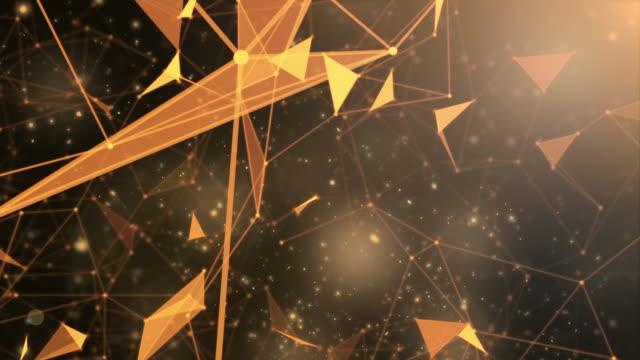 global network concept motion,gold color