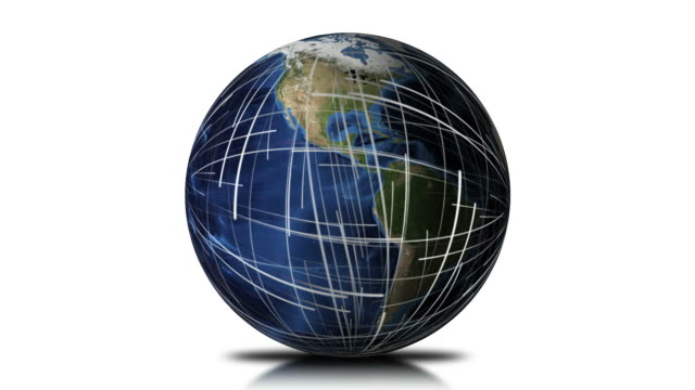 global network earth background loop - information symbol stock videos and b-roll footage