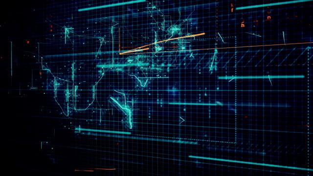 vídeos de stock, filmes e b-roll de rede global no ciberespaço digital animação de fundo - liquidação evento comercial