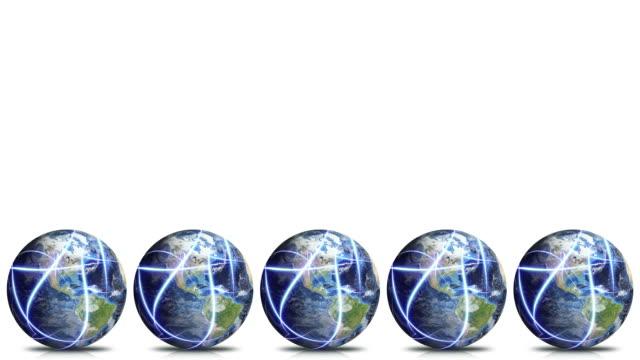 stockvideo's en b-roll-footage met global network title banner loop - vijf dingen
