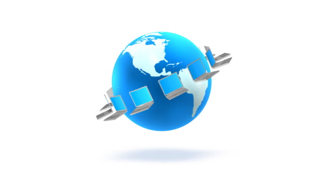 global network - laptops in a row stock videos & royalty-free footage