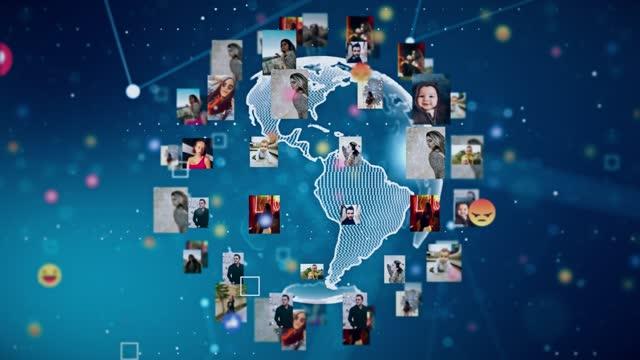 4kグローバルネットワーキングとソーシャルワールドのズームアウト - 地球村点の映像素材/bロール