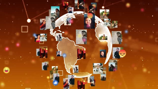 4k global networking and social world zoom out - global village stock videos & royalty-free footage
