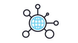 Global Networking Business Line Icon Animation with Alpha