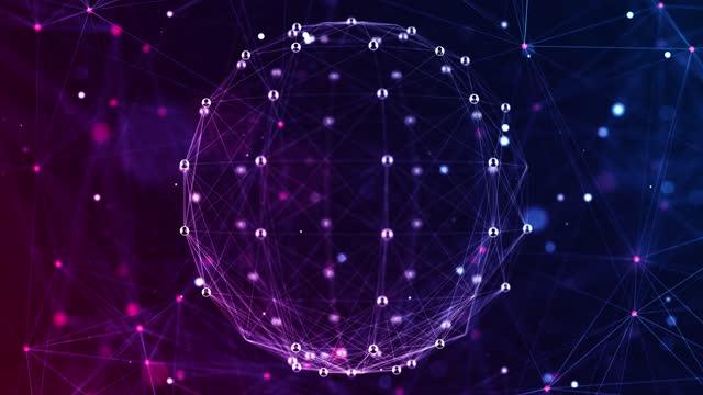 vídeos de stock, filmes e b-roll de redes globais 4k mídias sociais (loopable) - código binário