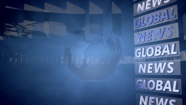 Global News Background with a rotating Globe