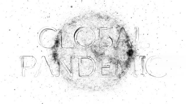 animazione del titolo della pandemia globale - vettore della malattia video stock e b–roll