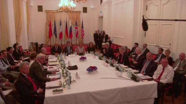 global powers seeking to hammer home a deal to curtail irans suspect nuclear programme miss another deadline with all sides vowing to now keep... - nuclear weapon stock videos & royalty-free footage