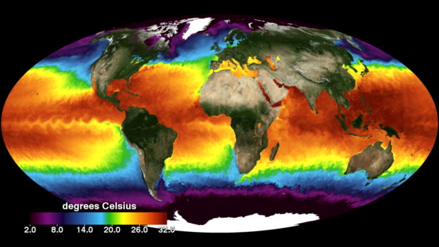 global sea surface temperatures - klima stock-videos und b-roll-filmmaterial