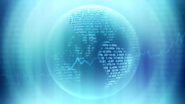 グローバル株式マーケットワールドマップ-ループ - ズームイン点の映像素材/bロール