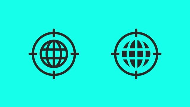 globale zielsymbole - vector animate - zielgruppe stock-videos und b-roll-filmmaterial