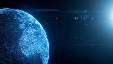 stockvideo's en b-roll-footage met global technology (hoek) - laatste rotatie is loopbare - globaal