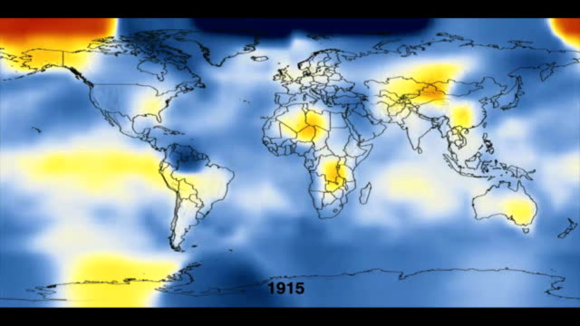 vídeos de stock, filmes e b-roll de global temperature differences from 1880 to 2007. - meteorologia