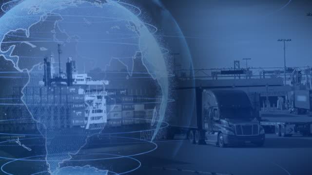 global trade collage - film montage bildbanksvideor och videomaterial från bakom kulisserna