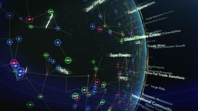 グローバル取引危機用語 - 外交点の映像素材/bロール